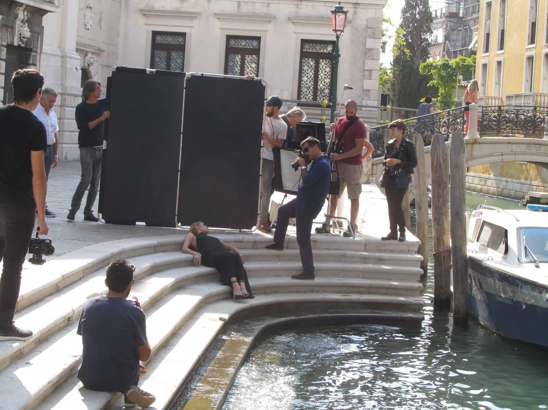 La modelo en Venecia