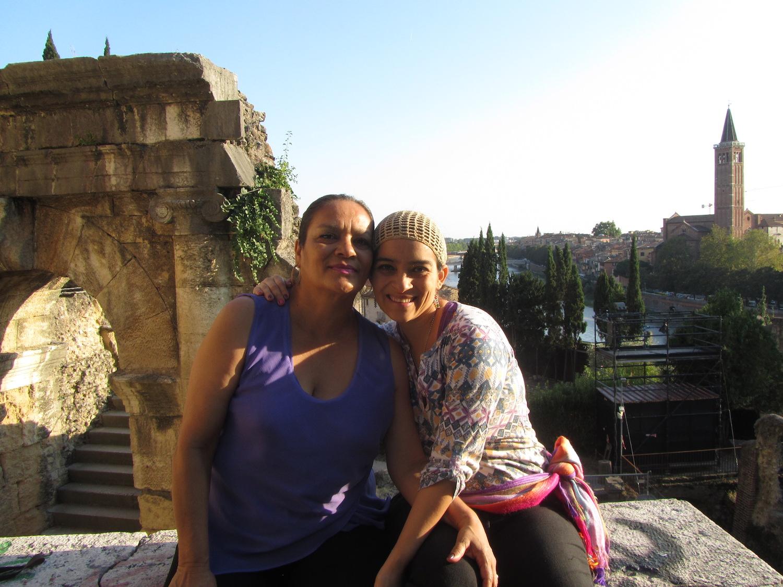 Con mi hija en Verona