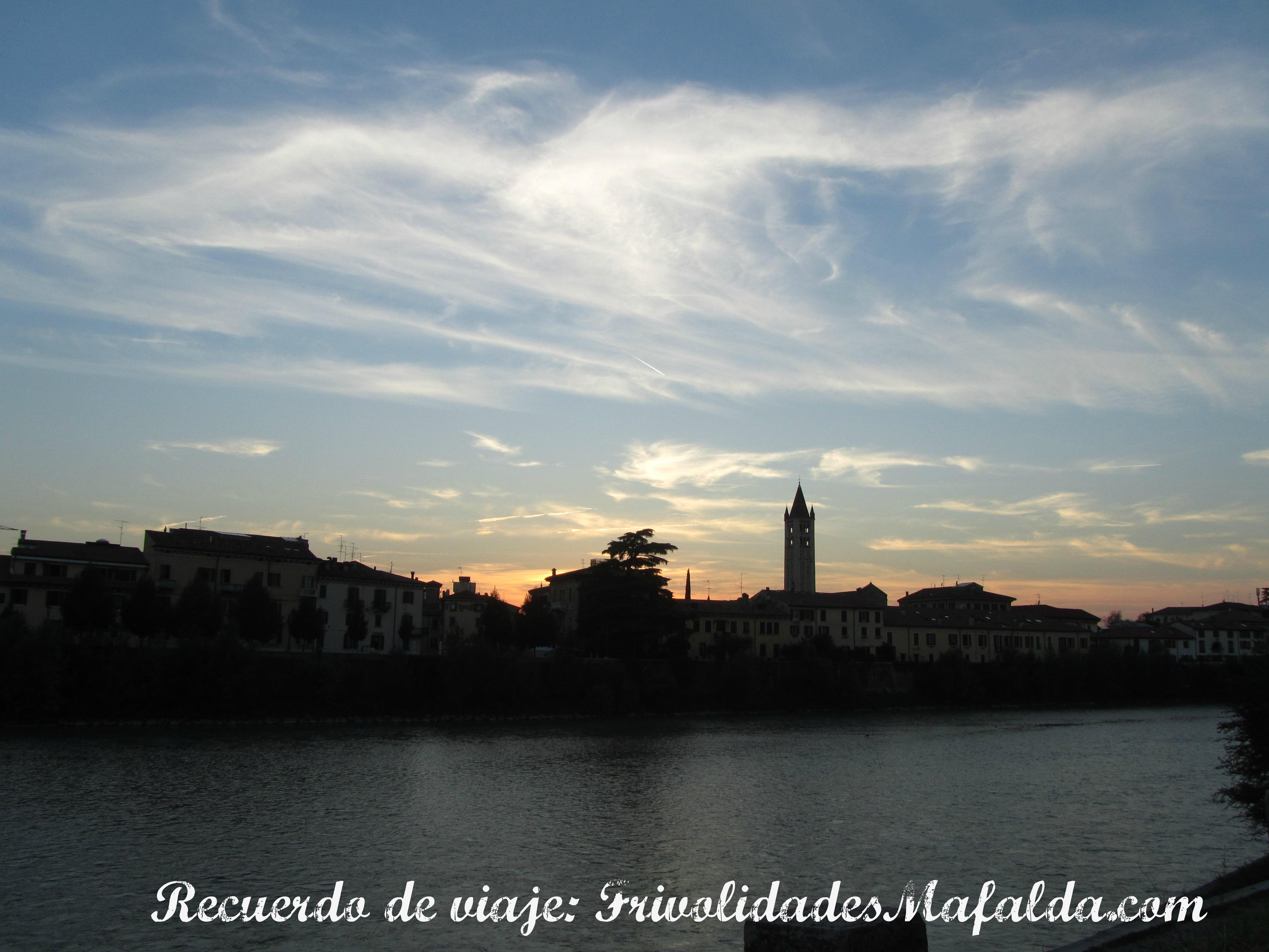 El día llega a su fin en Verona