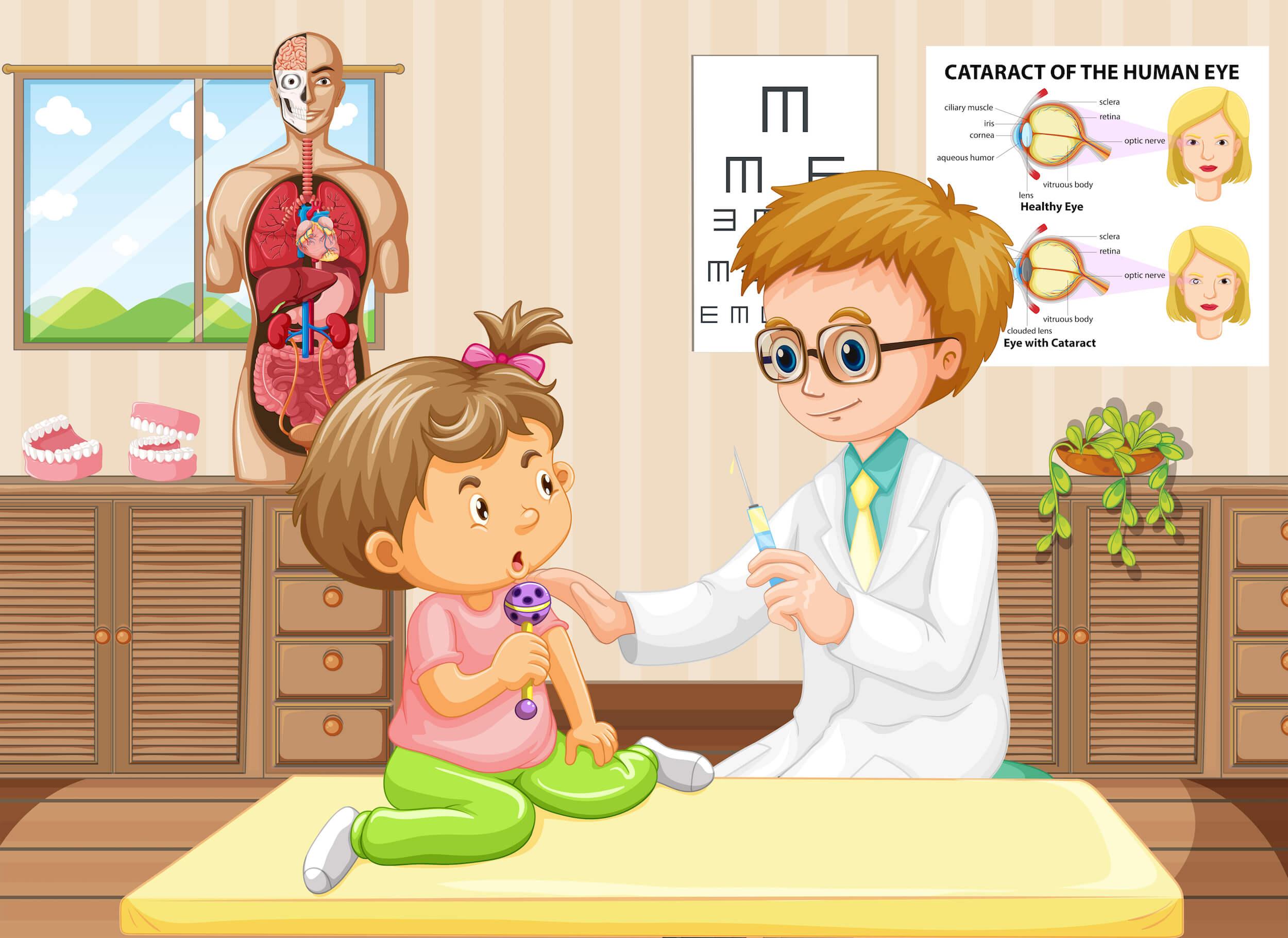 Emily enferma y de enfermera